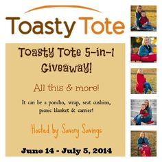 Toasty Tote Giveaway, ends 7/5