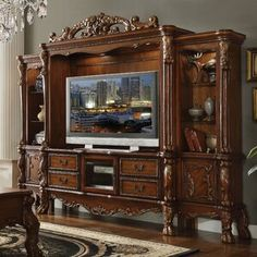 online shopping for ACME Dresden Cherry Oak Entertainment Center TV Stand from top store. See new offer for ACME Dresden Cherry Oak Entertainment Center TV Stand Glass Entertainment Center, Entertainment Center Decor, Entertainment Units, Entertainment Furniture, Entertainment Products, Acme Furniture, Living Room Furniture, Furniture Stores, Cheap Furniture
