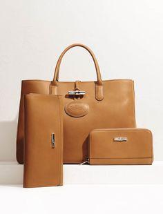Latest Ladies Leather Handbags 2014 by Longchamp