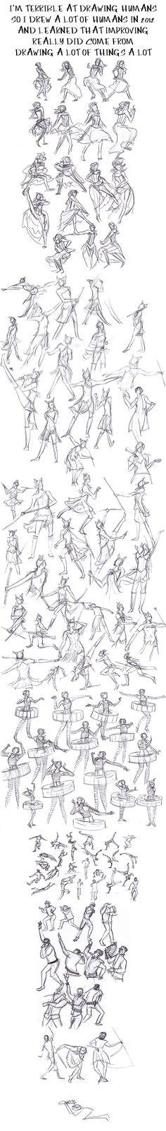 "#Tutorial ""Human Gesture Practice/Studies"" by Hnilmik.deviantart.com on #deviantART"