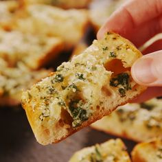 The secret to really good garlic bread is to keep it simple. And to use a lot of garlic—4 cloves for one loaf! Get the recipe at Delish.com #delish #easy #recipe #garlic #bread #homemade #dough #toast #spread #cheesy #garlicbread #quick #simple #video
