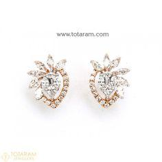Diamond Earrings for Women in 18K Gold VVS Clarity E-F Color -Indian Diamond Jewelry -Buy Online Diamond Earrings For Women, Diamond Dangle Earrings, Diamond Earing, Women's Earrings, Diamond Jewelry, Diamond Jhumkas, Ear Studs, Designer Earrings, Indian Jewelry