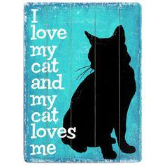 I Love My Cat Print