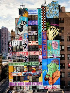 Faile New Mural On 44th Street In New York City, USA