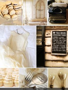 Charcoal and cream inspiration board