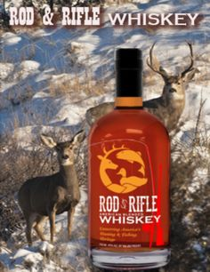 Rod & Rifle Whiskey #Whiskey #Hunting #Fishing #Wildlife #Rod&Rifle #alcohol Whiskey Bottle, Hunting, Fishing, Wildlife, Alcohol, Drinks, Products, Rubbing Alcohol, Drinking