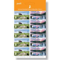Postin verkkokauppa Kotimaahan Europa: Siltoja - 10 kotimaan ikimerkkiä Postage Stamps, Finland, Denmark, Map, Europe, Location Map, Stamps, Maps