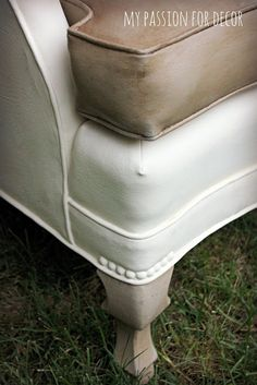 CHALK Painted Vinyl Chair.  My Passion For Decor: A Much Needed Update For An Old Vinyl Chair