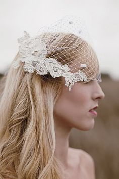 White Blusher Veil with Ivory Alencon Lace by Loveybyisha on Etsy, $42.00