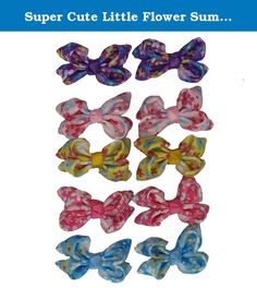 Super Cute Little Flower Summerz Ribbon Hair Bows Alligator Clips For Baby Girls and Toddlers Kids (Pack of 10). Summerz Ribbon Tiny Boutique Hair Bows Alligator Clips For Teens/ Baby Girls and Toddlers Kids are High Quality Product.It is Great Variety of Sweet Colors to Match your Outfit,and it is Good for pony tails or pig tails.Easy Way to Make your Little Cute Daughter Look even More Cute!!.