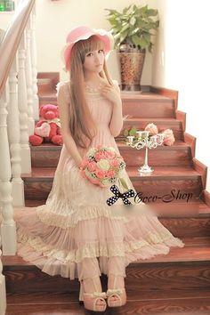 Vestido Kawaii Largo / Long Kawaii Dress 2WH205 $30.95 http://www.storenvy.com/products/1320847-vestido-kawaii-largo-long-kawaii-dress-2wh205