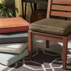 iNSPIRE Q Yasawa Modern Wood Outdoor Cushioned Dining Side Chair Set of 2 Oasis Tan *** To view further for this item, visit the image link. (This is an affiliate link) #OutdoorFurniture