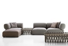 Latest collection of B&B Outdoor by Patricia Urquiola: Butterfly and Fat-Sofa www.terrazabalear.com