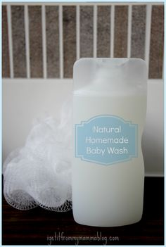 Natural Homemade Baby Wash & Shampoo. I use this on both of my older children as well. It's perfectly safe and doesn't contain the chemical numbing agents used in tear-free baby washes.