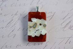 Red Pendant - FUSED GLASS JEWELRY - Vanilla Pendant  - Reactive Glass Jewelry - jewlery - glass jewellery. $22.00, via Etsy.