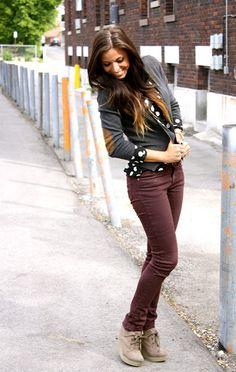 polkadots & maroon