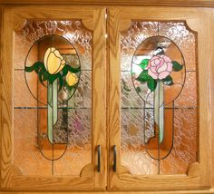 Custom Stained Glass cabinet doors created by artist Kim P. Stained Glass Cabinets, Stained Glass Door, Custom Stained Glass, Glass Cabinet Doors, Glass Doors, Wall Groupings, Crushed Glass, First Art, Wishing Well