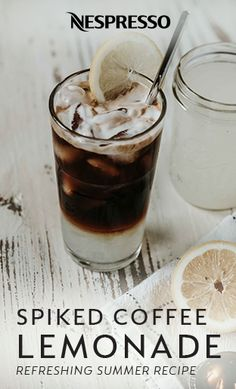 We're combining your favorite summer drinks into one delicious cocktail recipe with this Spiked Coffee Lemonade. Add a refreshing twist to traditional iced coffee by combining a Nespresso Double Espresso Chiaro Capsule with lemonade, vodka, and simple syrup. Garnish with a lemon wedge and this party-perfect drink is ready to serve. The Kentucky Gent has the easy recipe. This recipe contains alcohol. Please drink responsibly.