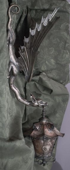 Bronze, Copper and Mica Dragon Sconce and Wall light bracket. Circa 1890...