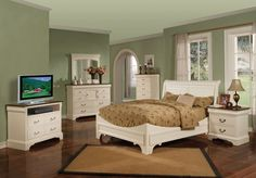 Night Dreams Country Style Sleigh Bedroom Collection