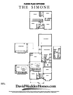 David Weekley Homes - Simone 3,165 Sq. Ft. Viridian