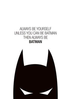 Typography poster with Batman