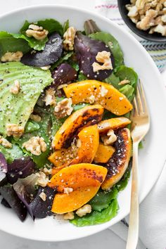 Vegan Recipes by Angela Liddon | Oh She Glows    Vitamin Glow Warm Squash Salad