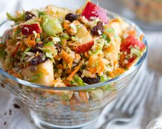Fall Salad    Brusselssprouts,carrots,celery,raisins,apples,pumpkin seeds and honey.