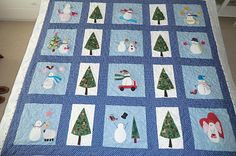 cottonreel: quilt finished Bunny Hill Design SNOWBOUND