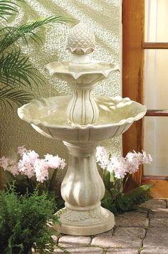 3 Tier Outdoor Garden Water Fountain, $249.95  http://www.paradisewaterfountains.com/ #fountain #garden #landscape