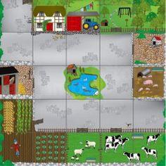 Percorso per Bee-Bot e Blue-Bot: cortile della fattoria
