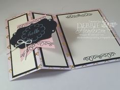 Stampin' Up! Paper Pumpkin August 2015 Kit. Additional projects on my blog. Debbie Henderson, Debbie's Designs.