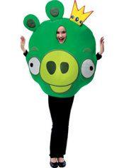 Boys King Pig Costume - Angry Birds