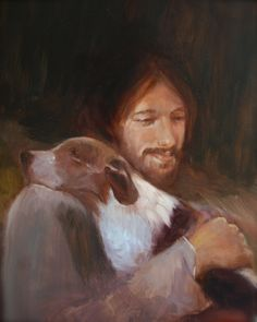 Safe in His Everlasting Arms. Jesus with por ChristianArtPainting