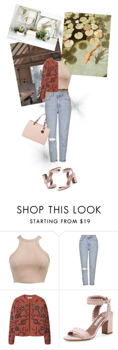 """""""fishy"""" by annna-98 ❤ liked on Polyvore featuring Topshop, MANGO, Tabitha Simmons and MICHAEL Michael Kors"""