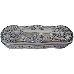 ~ Antique Gorham Sterling Silver Trinket Box with Flowers and Scrolls ~ 1stdibs.com
