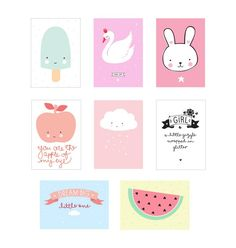 A Little Lovely Company Poster Sheets Little Girl