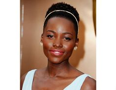 @Byrdie Beauty - Lupita Nyong'O    Makeup artist Nick Barose gave the Oscar-winning actress a rosy flush and red lip using Chanel's Le Blush Crème De Chanel ($35) in Chamade and Rouge Allure Luminous Intense Lip Colour ($38) in Mélodieuse.