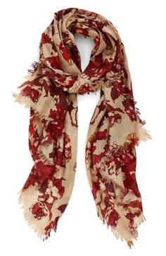 Nordstrom 'Dissolving Floral' Cashmere & Silk Scarf available at #Nordstrom