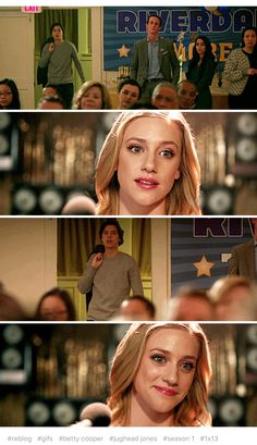 This scene was amazing, he gave her hope. I just love this scene! - Jughead & Betty - Bughead - Riverdale