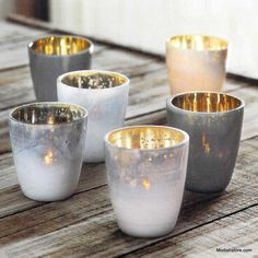 $105.00 Roost Mineral Tealight Holders - Set Of 12