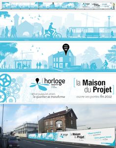 Ville de Romainville / SEQUANO Aménagement : Palissade chantier de la Maison du projet (ZAC de l'Horloge) © Sous Tous les Angles