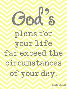 God has a plan!