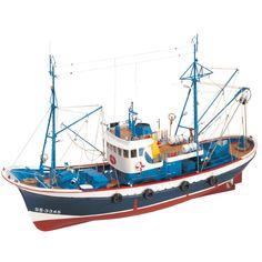 "Elegant, highly detailed wooden model ship kit by Artesania Latina: ""Marina II"" Wooden Boat Kits, Wooden Model Boats, Wood Boat Plans, Wooden Boat Building, Boat Building Plans, Wooden Boats, Model Ship Kits, Model Ships, Bateau Rc"