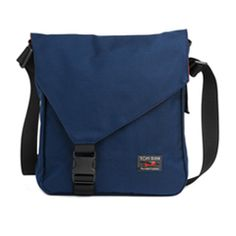 Inspiration only: change up the flap on a basic messenger bag to add style simply.