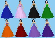 everything for your sims: Dress Princess TS4
