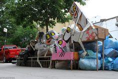 Art Is Trash Barcelona's Francisco de Pajaro (aka El Arte Es Basura) in Williamsburg, Brooklyn.
