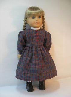 1854-10114 School Dress for Kirsten American Girl