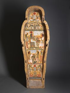 """virtual-artifacts: """" Coffin of Nesykhonsu c. BC Egypt, Thebes, Third Intermediate Period, late Dynasty 21 BC) to early Dynasty 22 BC) """" Ancient Egypt Art, Old Egypt, Ancient Artifacts, Ancient History, European History, Ancient Aliens, Ancient Greece, American History, Egyptian Mummies"""