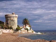San Martino di Lota - Tour de Miomo - Region de Bastia Corsica, Santa Maria, Cap Corse, Cool Wallpaper, Pisa, Paradise, Tower, Explore, Building